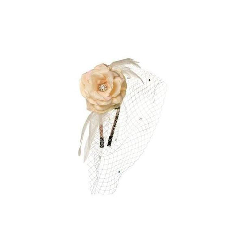 Peach Rose Headband-Fascinators-Rosie Fox-Nude-Tegen Accessories