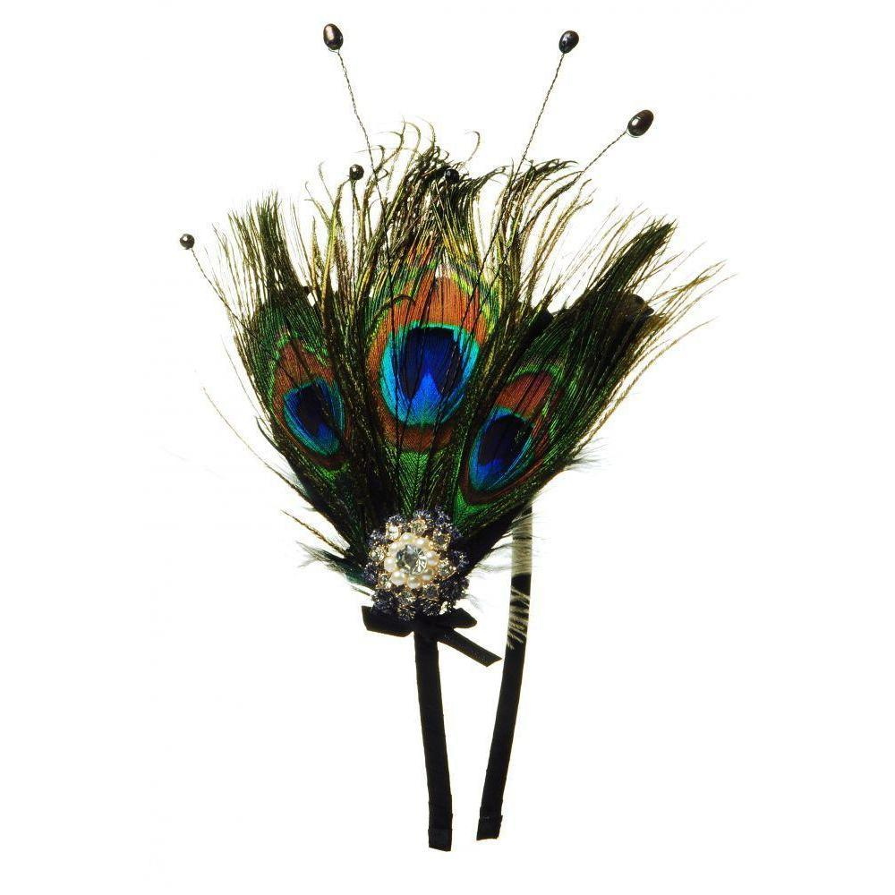 Peacock & Pearl Headband-Headbands-Rosie Fox-Black-Tegen Accessories