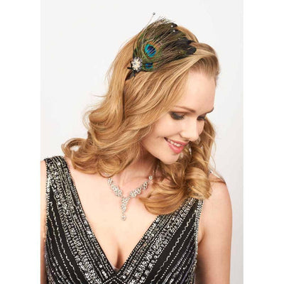 Peacock & Pearl Headband-Headbands-Rosie Fox-Tegen Accessories