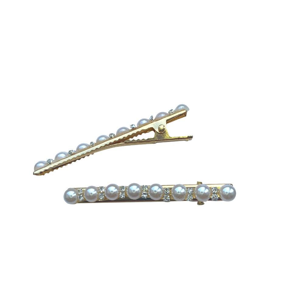 Pearl and Crystal Beak Clips-Clips & slides-Tegen Accessories-Tegen Accessories