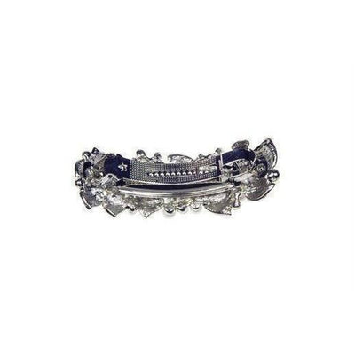 Pearl & Crystal Amour Barrette-Discontinued-Silver-Tegen Accessories