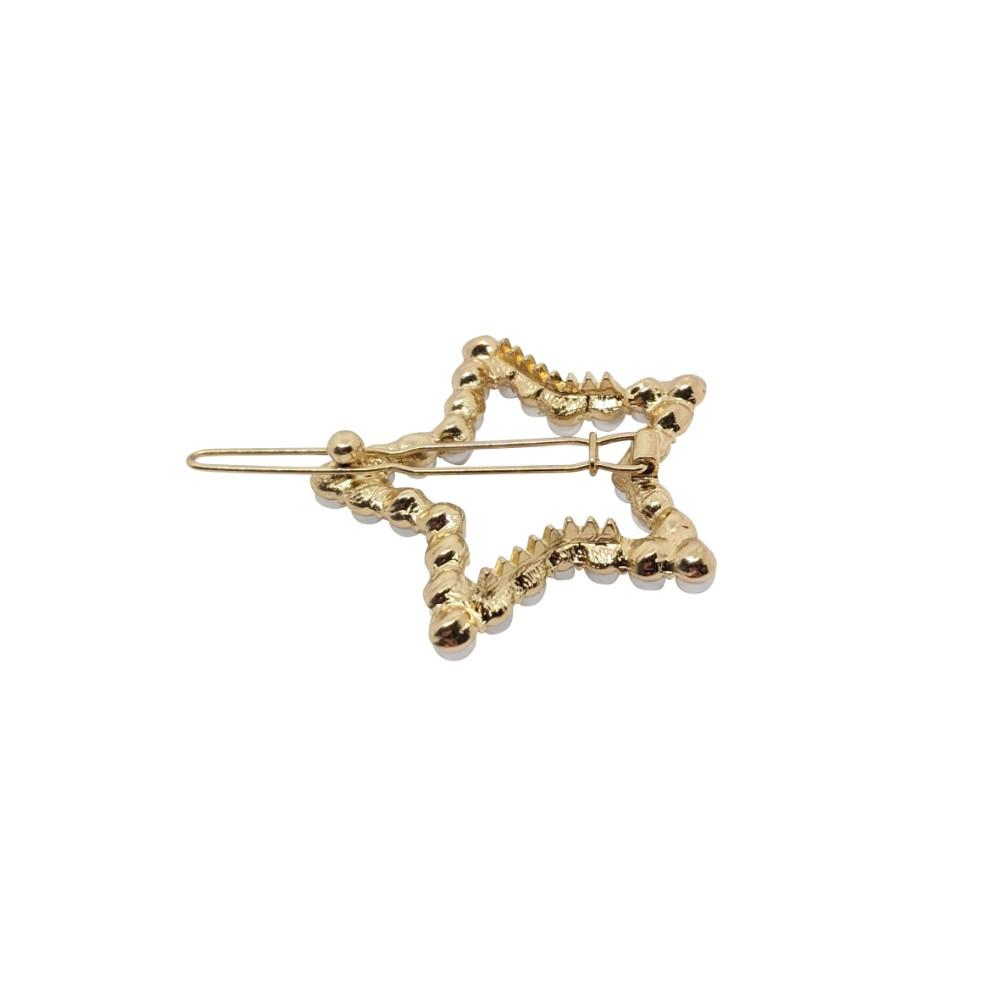 Pearl Star Cut-Out Hair Clip-Clips & Slides-Tegen Accessories-Pearl