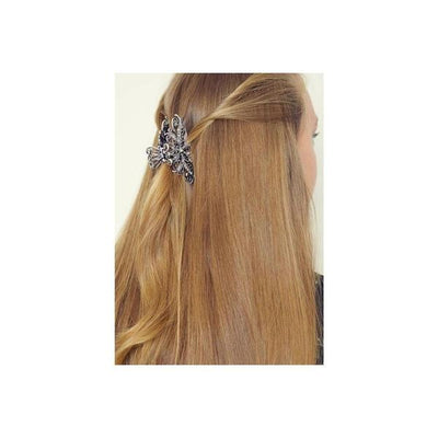 Pewter Crystal Hair Claw-Discontinued-Pewter Crystal-Tegen Accessories