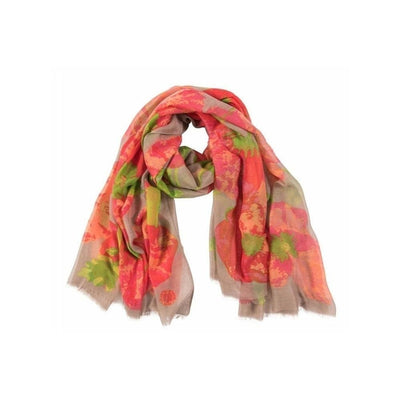 Poppy Print Scarf-Discontinued-Tegen Accessories