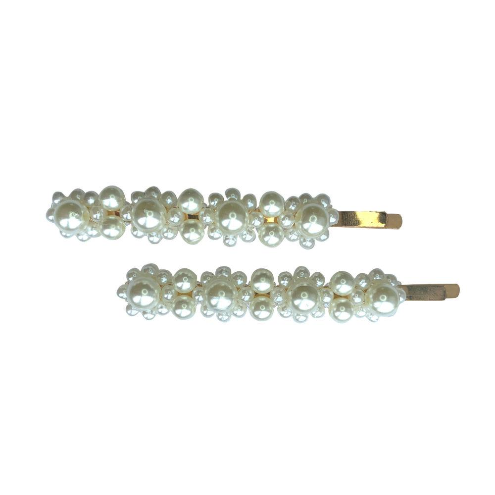 Pretty Pearl Flower Hair Slides-Clips & slides-Tegen Accessories-Tegen Accessories