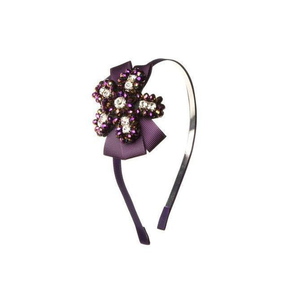 Purple Ribbon Headband-Headbands-Rosie Fox-Purple-Tegen Accessories