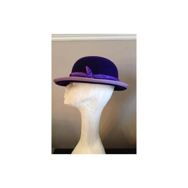 Purple Wool Bowler Hat-Hats-Tegen Accessories-Purple-Tegen Accessories
