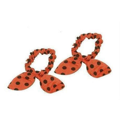 Rabbit Ear Scrunchies-Discontinued-Orange/Black-Tegen Accessories