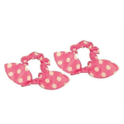 Rabbit Ear Scrunchies-Discontinued-Pink-Tegen Accessories