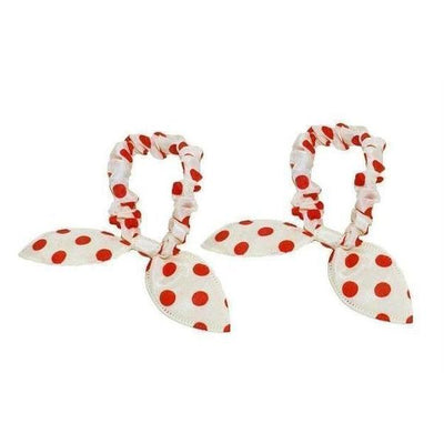 Rabbit Ear Scrunchies-Discontinued-White-Tegen Accessories