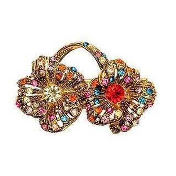 Rainbow Flower Brooch-Brooches-Rosie Fox-Gold-Tegen Accessories