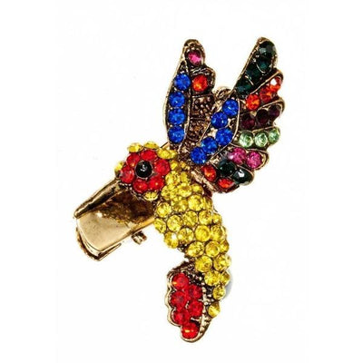 Rainbow Hummingbird Hairclip and Brooch-Clips & slides-Rosie Fox-Tegen Accessories