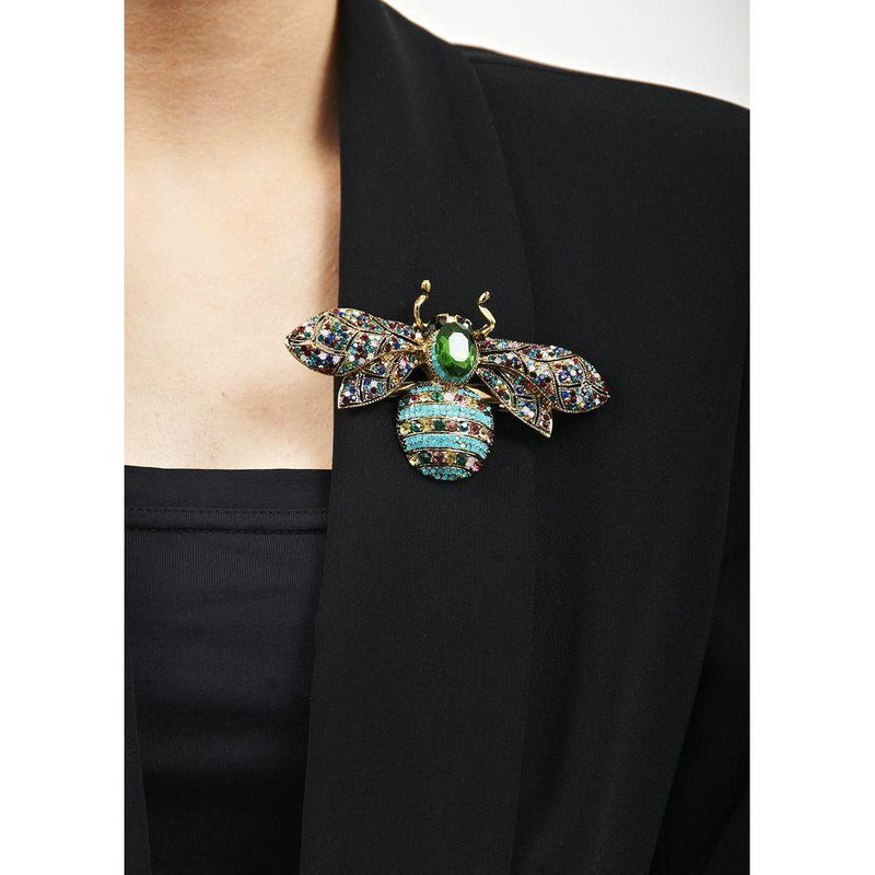 Rainbow Opal Crystal Bug Brooch-Brooches-Rosie Fox-Tegen Accessories