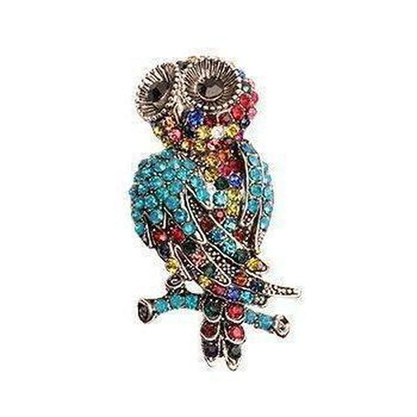 Rainbow Owl Hair Clip/Brooch-Discontinued-Tegen Accessories