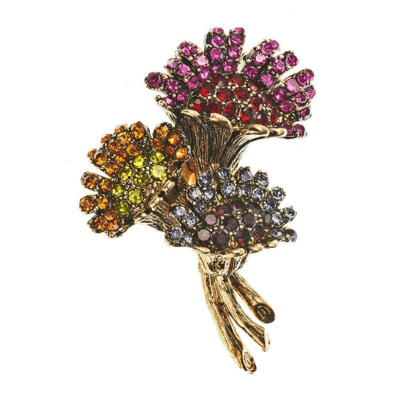 Rainbow Thistle Crystal Hair Clip and Brooch-Brooches-Rosie Fox-Tegen Accessories Pink