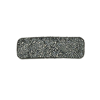 Rectangular Sparkle Snap Clip-Snap clips-Swarovski Crystal-Clear Crystal-Tegen Accessories
