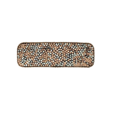 Rectangular Sparkle Snap Clip-Snap clips-Swarovski Crystal-Rose Gold Crystal-Tegen Accessories