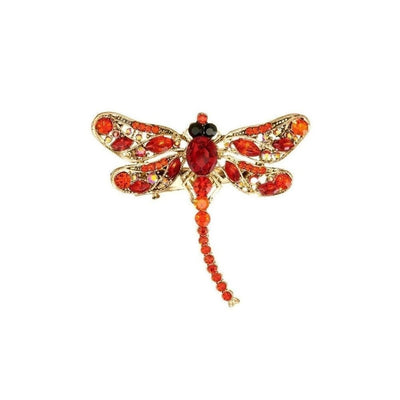 Red Crystal Dragonfly Hairclip & Brooch-Discontinued-Tegen Accessories
