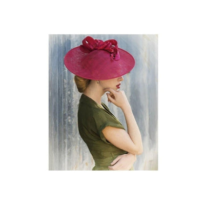 Red Rose Disc Fascinator-Discontinued-Red-Tegen Accessories