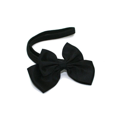 Ribbon Bow Bandeau-Bandeaus-Children-Black-Tegen Accessories