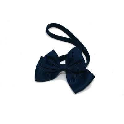 Ribbon Bow Bandeau-Bandeaus-Children-Navy-Tegen Accessories