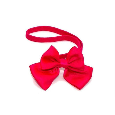 Ribbon Bow Bandeau-Bandeaus-Children-Pink-Tegen Accessories