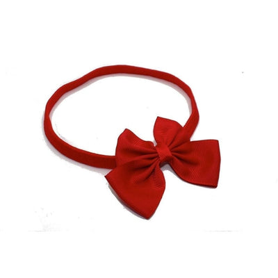 Ribbon Bow Bandeau-Bandeaus-Children-Red-Tegen Accessories