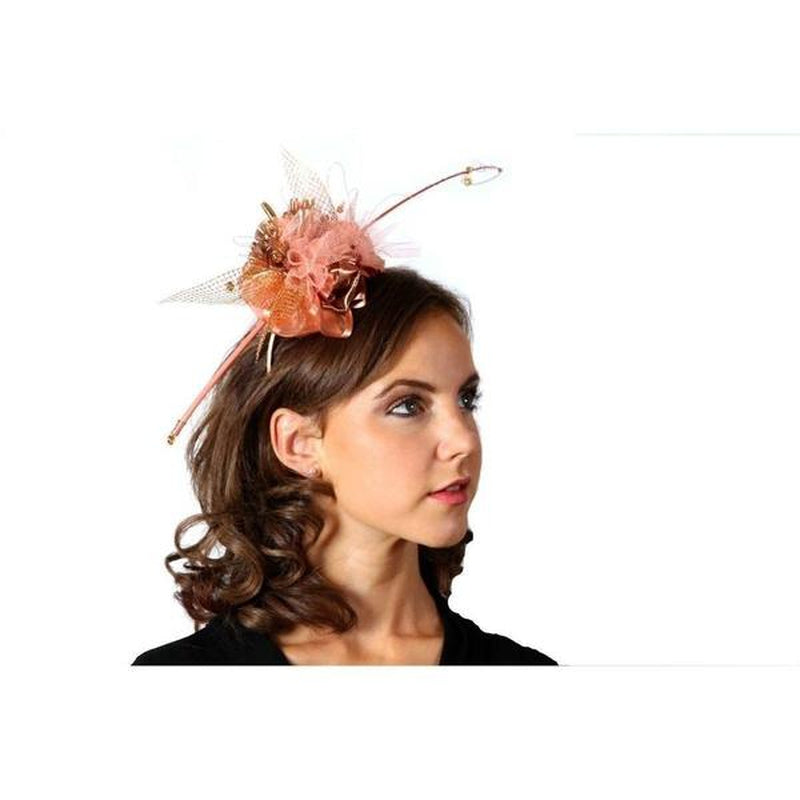 Rose Gold & Coral Fascinator-Discontinued-Rose Gold-Tegen Accessories