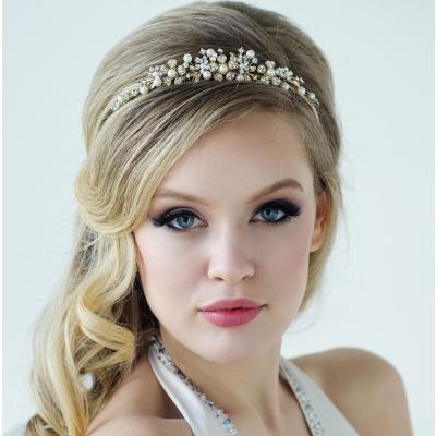 Rose Gold Daisy Tiara-Tiaras-Bridal-Tegen Accessories Rose Gold Pearl