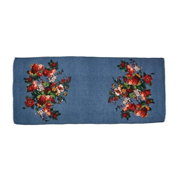Roses Scarf-Discontinued-Black-Tegen Accessories