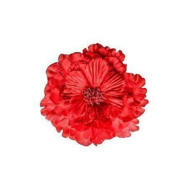 Satin Rose Hair Flower-Hair flowers-Rosie Fox-Red-Tegen Accessories