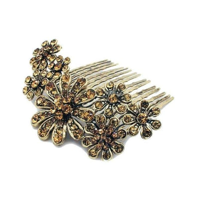 Scattered Daisy Hair Comb-Discontinued-Gold-Tegen Accessories