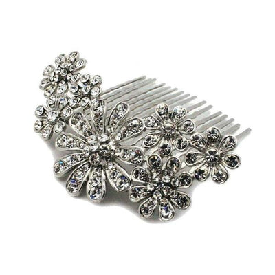 Scattered Daisy Hair Comb-Discontinued-Silver-Tegen Accessories