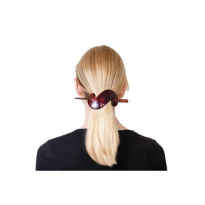 Scroll Stick Barrette-Barrettes-Essentials-Tortoiseshell-Tegen Accessories