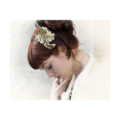 Sequin Floral Headpiece-Discontinued-Tegen Accessories