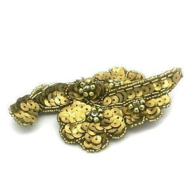 Sequin Floral Headpiece-Discontinued-Gold-Tegen Accessories