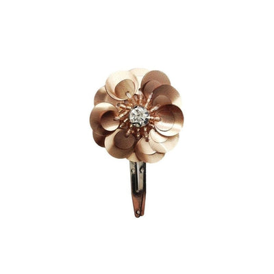 Sequin Flower Hair Clip-Clips & slides-Gil Fox-Rose Gold-Tegen Accessories