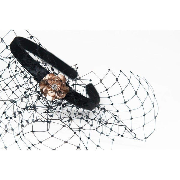 Sequin Headband With Veil-Headbands-Gil Fox-Tegen Accessories