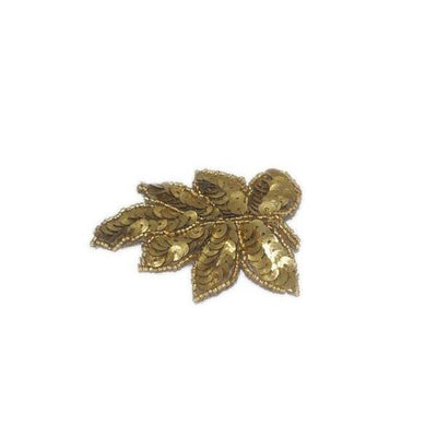 Sequin Leaf Hair Clip-Discontinued-Gold-Tegen Accessories