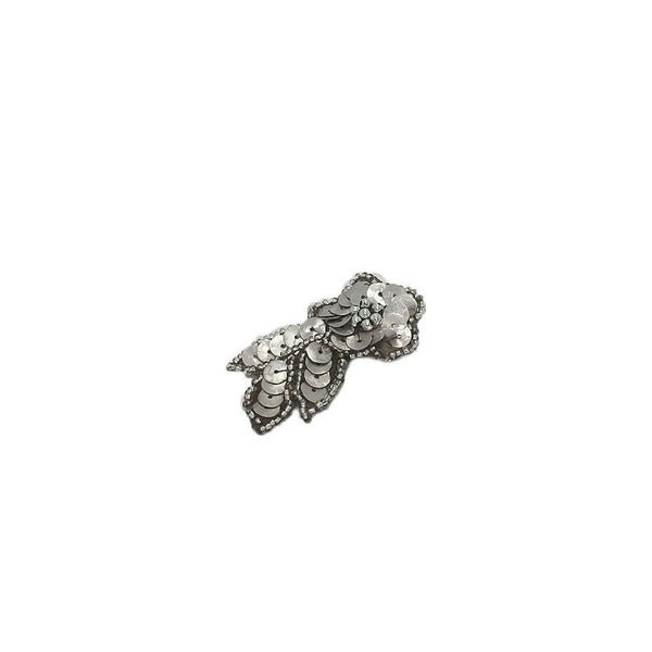 Sequin Leaf Hair Clip-Discontinued-Silver-Tegen Accessories