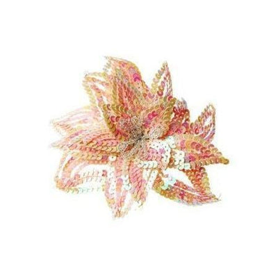 Sequin Lily Hairclip & Brooch-Discontinued-Pink-Tegen Accessories