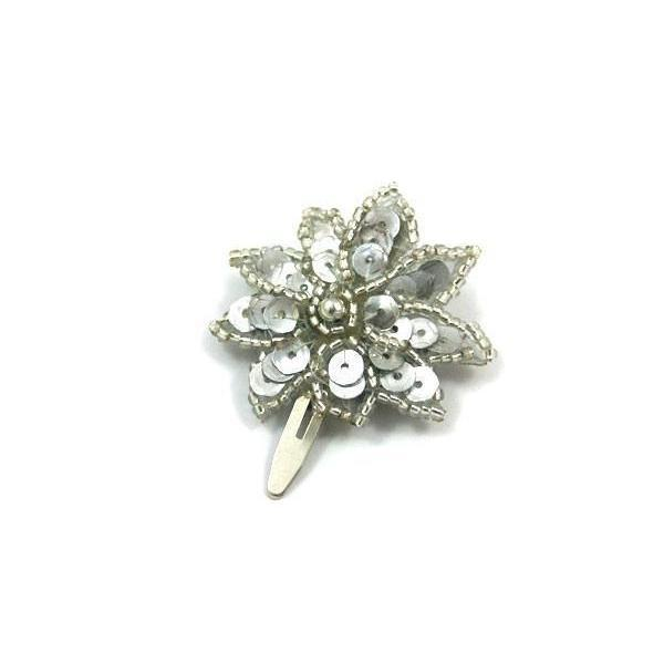 Sequin Star Hair Clip-Discontinued-Silver-Tegen Accessories