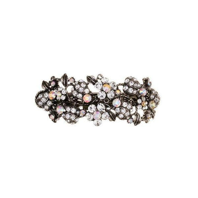 Silver Crystal Floral Barrette Clip-General-Rosie Fox-Tegen Accessories