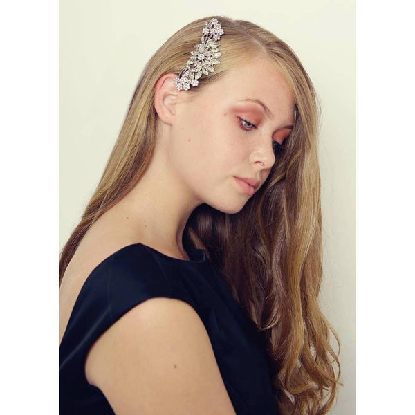 Silver Crystal Flower Hair Comb-Hair combs-Rosie Fox-Clear Crystal-Tegen Accessories