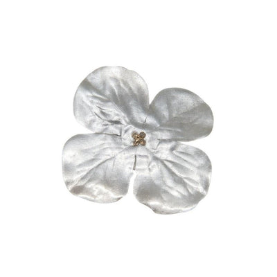 Silver Oyster Flower Hair Clip-Clips & slides-Gil Fox-Tegen Accessories