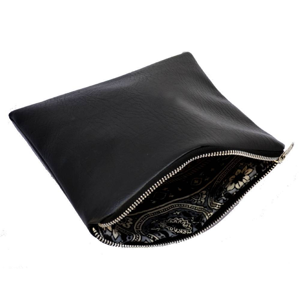 small-black-handmade-vegan-leather-clutch-bag-bags-constance-halliday-tegen-accessories Black