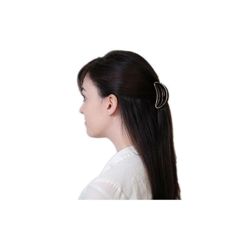 Small D Shape Hair Clamp-Hair claws-Essentials-Black-Tegen Accessories Black
