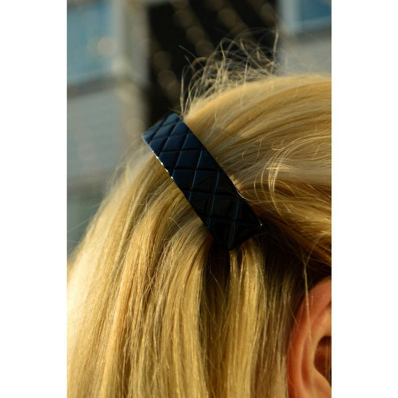 Small Quilted Barrette-Barrettes-Ooh La La!-Tegen Accessories