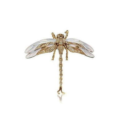 Small Swarovski Crystal Dragonfly Barrette-Barrettes-Swarovski Crystal-Tegen Accessories