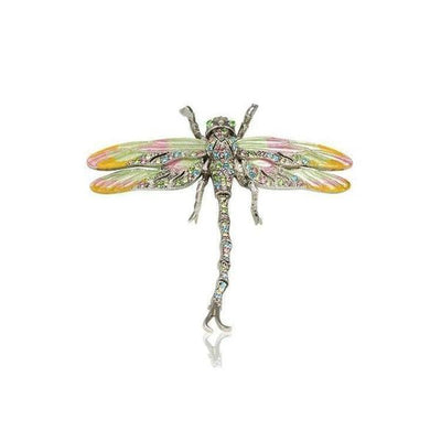 Small Swarovski Crystal Dragonfly Barrette-Barrettes-Swarovski Crystal-Multicolor-Silver-Tegen Accessories